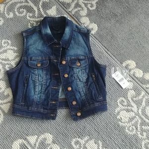 ⏩FREE W PURCHASE NWT Liquid Jeans Vest XS
